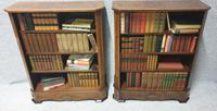 Pair of French Burr Walnut Open Bookcases (3 of 13)