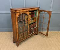 Good Burr Walnut Glazed 2 Door Bookcase (13 of 15)