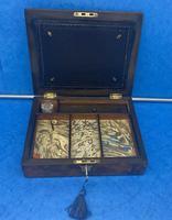 Victorian Burr Walnut Writing Box c.1870 (8 of 14)