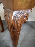 Carved Mahogany Cabriole Leg Stool In The Queen Anne Style (5 of 9)