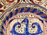 Large 19th Century Spanish Copper Lustre Charger in Hispano-moresque Revival Style (3 of 7)