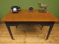 Antique Black Painted Writing Table with Wooden Top, Gothic Shabby Chic (18 of 19)