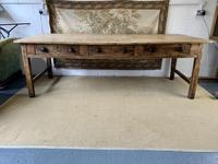 Superb Large 19th Century Pine Kitchen Table (2 of 10)