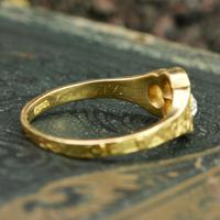 The Late Victorian Spencer of Charlotte 1892 Four Diamond Memory Ring (6 of 10)