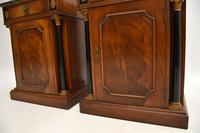 Pair of Georgian Style Marble Top Bedside Cabinets c.1930 (4 of 10)