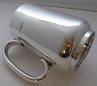 1921 Hallmarked Solid Silver 1 One Pint Tankard Christening Mug 245g (8 of 10)