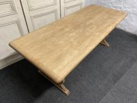 Bleached Oak Refectory Farmhouse Dining Table (13 of 13)