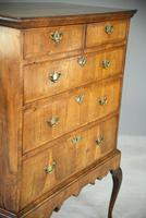 Antique Walnut Chest on Stand (6 of 9)