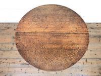 Early 19th Century Antique Oak Pillar Table (6 of 7)