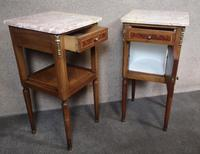 Pair of French Inlaid Mahogany Bedside Cupboards / Night Stands (5 of 14)