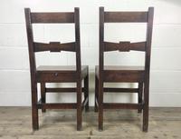 Pair of Antique Oak Bar Back Farmhouse Chairs (11 of 14)