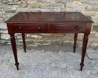 Antique Victorian Mahogany Two Drawer Side Table (2 of 20)