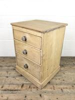 Rustic Pine Three Drawer Pedestal Chest (6 of 9)