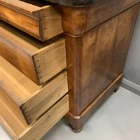 Figured Walnut and Marble Top Commode (4 of 13)