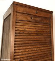 Antique French Tall Filing Cabinet Tambour Roller Shutter (7 of 10)