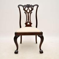 Set of 8 Antique Mahogany Chippendale Dining Chairs (4 of 14)