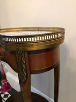Antique French Kidney Shaped Side Table with Marble Top (5 of 10)