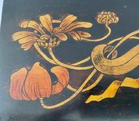 Superb Art Nouveau Pen & Ink Decorated Box (9 of 10)
