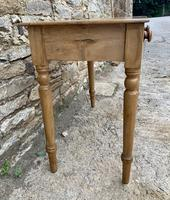Antique Pine Side Table with Drawer (5 of 14)