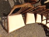 Set of 8 Hepplewhite Style Mahogany Dining Chairs (11 of 12)