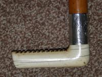 """Antique Repousse Silver Ladies Hunt Whip With Plaited Leather Thong """"K.R."""" (16 of 20)"""