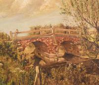 Oil Painting of the Old Bridge Near Welham (5 of 8)