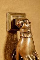 Interesting Bronze Door Knocker in the Shape of a Hand (3 of 8)