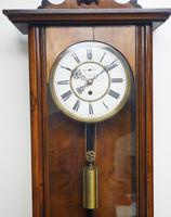 Antique Rocket Cased Single Weight Walnut 8-Day Vienna Regulator Wall Clock (13 of 14)
