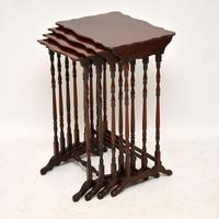 Antique Mahogany Nest of Four Tables (6 of 12)
