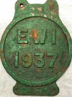 Early 20th Century Reclaimed Cast Iron Green Railway Train Sign Plaque EW1 (3 of 12)
