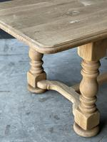 French Bleached Oak Refectory Farmhouse Dining Table (18 of 26)