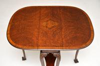 Antique Burr Walnut Drop Leaf Dining Table (2 of 11)
