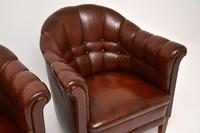 Pair of Antique Swedish Leather Armchairs (7 of 10)