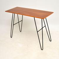 1960's Vintage Mahogany Hairpin Side / Console Table (3 of 7)