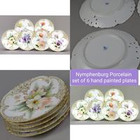 Nymphenburg Porcelain Hand Painted Plates - Set of 6 (2 of 5)