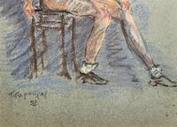Russian School? Superb 1952 Signed Charcoal Portrait Sketch A Male Model Dancer (4 of 10)