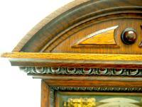 Superb Antique German Oak 8-Day Mantel Clock Quarter Striking Bracket Clock by Junghans (2 of 8)