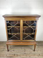 Mahogany Glazed Bookcase or Display Cabinet (4 of 12)