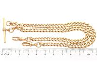9ct Yellow Gold Double Albert Watch Chain - 1925 (8 of 12)