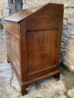 18th Century Georgian Oak Crossbanded Bureau (13 of 22)