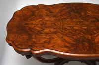 Antique Victorian Burr Walnut Centre Table (9 of 11)