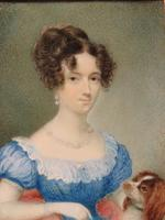 Hand Painted Miniature Portrait Wife 1 of 2 Red Leather Travel Case (2 of 4)