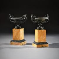 Pair Of Early 19th C Grand Tour Bronze And Sienna Marble Tazzas (3 of 7)