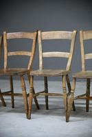 4 Rustic Elm Country Kitchen Chairs (5 of 14)