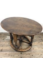 Unusual Antique Oak Oval Top Table (6 of 12)