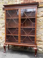 Chippendale Style Glazed Mahogany Bookcase (2 of 10)