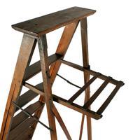 Edwardian Oak Library Ladders (7 of 7)