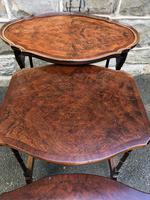 Antique Burr Walnut Nest of 4 Tables (6 of 8)