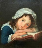Enchanting Original 20thc English Sch Oil Portrait Painting Of A Victorian Child (2 of 8)