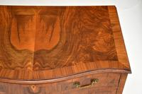 Antique Figured Walnut Serpentine Chest of Drawers (5 of 10)